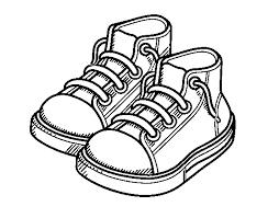 Disegno Di Bambino Scarpe Da Colorare Acolorecom