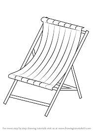 Learn How to Draw Beach Chair Everyday Objects Step by Step