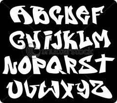Cool Graffiti Fonts Vector Illustration