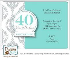 40th Birthday Invitation Ideas Birthday Party Invitation 40th