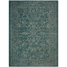 safavieh courtyard turquoise 8 ft x 11 ft indoor outdoor area rug