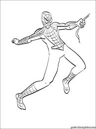 Kleurplaat Spider Man Vliegt Gratis Kleurplaten