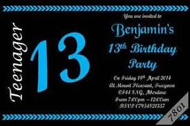 13th Party Invitations Details About 10 X Personalised Teenager 13th Boys Girls Birthday Party Invitations Invites