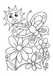 Flower Color Sheets Spring Flowers Coloring Pages Printable Rose