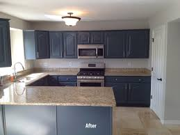image of finished painting wood cabinets