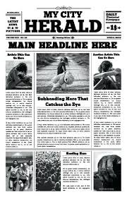 Microsoft Newspaper Template Free Free Newspaper Templates Print And Digital Ad Template Psd