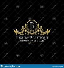 Luxury B B Lake District Grand Designs Gold Luxury Boutique B Letter Logon Stock Illustration