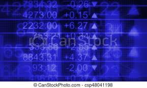 Stock Market Charts And Graphs Math Charts Graphs Stock Market Flying Numbers In Blue Looping Animated Background