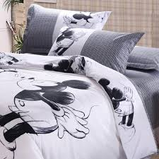 33 sweet inspiration mickey mouse king size duvet cover purchase new arrival lovely anime black and white minnie cartoon bedding set full queen in sets