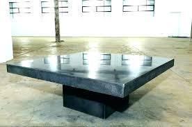 concrete coffee table chic square diy reddit