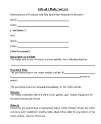 Purchase Agreement Vehicle Car Sale Agreement Letter Tsurukame Co