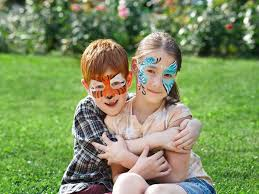 safe baby healthy child post on non toxic face paint boy and girl with painted faces