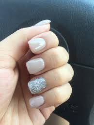 Nude and silver glitter nails | Nails | Pinterest | Silver glitter ...