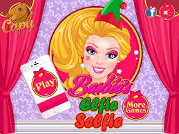 barbies elfie selfie dress up game