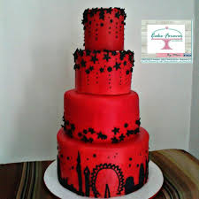 Debut Cake Design Red And Black Silhuette Debut Cake Debut Cake Cake Desserts