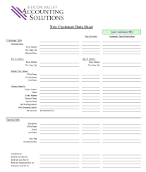 customer contact sheet accounting forms new customer data sheet silicon valley