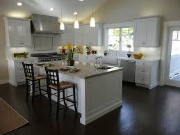 image of what color cabinets with dark wood floors design idea