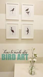 diy bird silhouette wall art