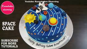 Space Birthday Cake Designs Space Galaxy Planet Birthday Cake Design Ideas Decorating Tutorial Classes Courses Video