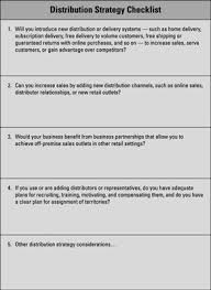 Online Sales Business Plan Business Marketing Plan Distribution Pricing And