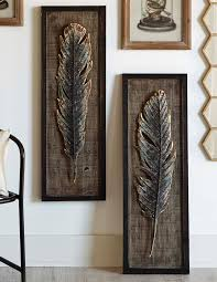 on set of 2 framed wall art with framed feather wall art set of 2