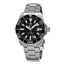 tag heuer watches overstock com the best prices on designer mens tag heuer men s way211a ba0928 300 aquaracer black dial stainless steel swiss automatic