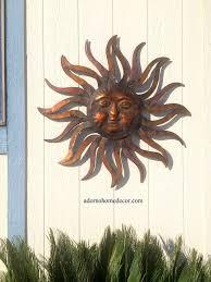 large metal wall art for outside ideas on sun moon stars wall hanging art rusty metal