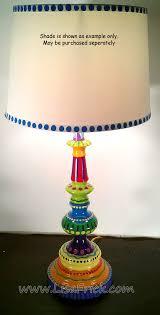 fun funky lighting. Hand Painted Table Lamp 002 Fun Funky Whimsical And Crazy Fun Funky Lighting