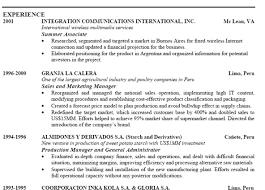 Standard Resume Margins Coffee Shop Sales Sample Resume Websphere