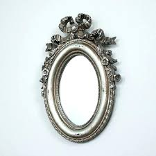 wall mirrors silver oval wall mirror shabby chic furniture french style home accessories mounted beveled beaded