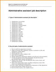 Medical Office Administration Duties Cover Letter Admin Job Cv Office Assistant Duties Resume With Regard