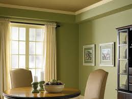 green dining room colors. Plentiful Mid Century Green Dining Room Paint Colors Wall With Rounded Table And Upholstered Chairs As Well White Curtain Windows Treatments