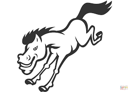 Small Picture Bronco Horse Jumping coloring page Free Printable Coloring Pages