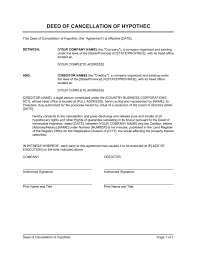 Contract Cancellation Form Template