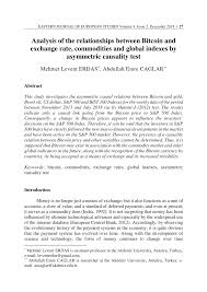 Live inr price, best exchanges, taxes, and history. Pdf Analysis Of The Relationships Between Bitcoin And Exchange Rate Commodities And Global Indexes By Asymmetric Causality Test