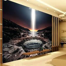 large 3d wall art large custom wallpapers home decoration background seaside sky volcanic bath bathroom wall