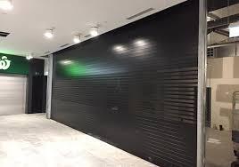 aluminium roller shutter powder coated black satin industrial shutter