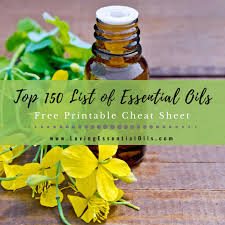 Essential Oil Benefits Chart Top 150 List Of Essential Oils With Free Cheat Sheet