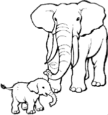 Elephant Coloring Pages Baby And Mom Coloringstar
