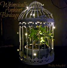 birdcage lighting. Whimsically Ambient Birdcage With Ivy And Lights ~ Thrifty Artsy Girl Lighting T