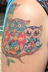 31 best Patchwork Rose Tattoo images on Pinterest | Heart tattoos ... & Patchwork owl tat - love the idea but I would do a Cardinal in different  shades of red for my aunt Adamdwight.com