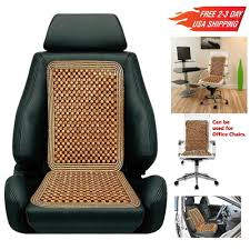 massage car seat cover wood beaded cushion roller relax chair deluxe drive back