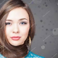 Módní účes Krásná žena S Dlouhé Rovné Vlasy Stock Fotografie