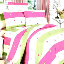 pink green bedding sets image of polka striped bedspread hot pink and lime green bedding sets