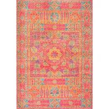 nuloom area rug vintage orange 4 ft x 6 ft area rug nuloom blythe indoor area
