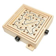 Wooden Maze Game With Ball Bearing Intellectual Property Labyrinth ThinkGeek 31
