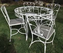 white cast iron patio furniture. 1326 Best Vintage Wrought Iron Patio Furniture Images On Pinterest Regarding Amazing Home White Table And Chairs Designs Cast T