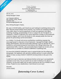 Internship Cover Letter Sample For College Students High School