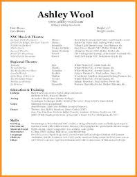 Dance Resume Amazing 6060 Dance Resume Examples For Auditions Urbanvinephx