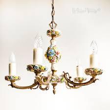 porcelain chandelier luxury vintage 5 arm capodimonte fl porcelain chandelier light